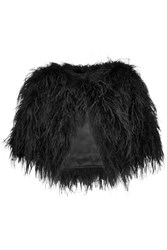 Temperley London Cropped Feather Jacket Black