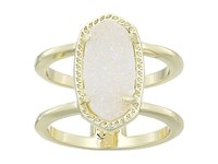 Kendra Scott Elyse Ring Gold Iridescent Drusy Ring Silver