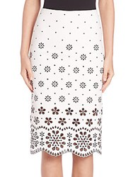 Marc Jacobs Broderie Anglaise Pencil Skirt White