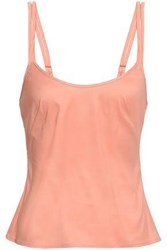 Jenny Packham Woman Tulle Trimmed Crepe De Chine Camisole Baby Pink