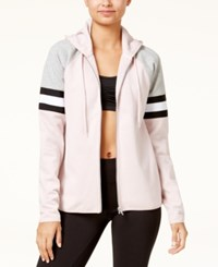 Material Girl Active Juniors' Colorblocked Hoodie Only At Macy's Shimmer Pink