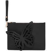 Sophia Webster Black Flossy Butterfly Pouch