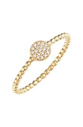 Women's Bony Levy 'Aurora' Diamond Pave Circle Ring Yellow Gold Nordstrom Exclusive