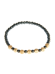 Luis Morais Yellow Gold And Hematite Bead Bracelet