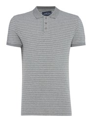 Criminal Men's Ryder Stripe Pique Polo Grey Marl
