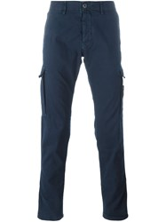 Stone Island Patch Pockets Tapered Trousers Blue