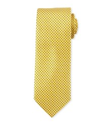 Eton Mini Coffee Bean Pattern Silk Tie Yellow Yellow Orange