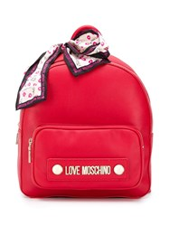Love Moschino Small Logo Backpack Red