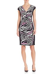 Escada Zebra Print Dress Black Multi