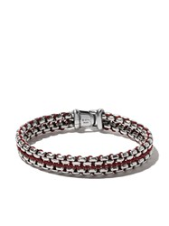 David Yurman Woven Box Chain Bracelet Metallic