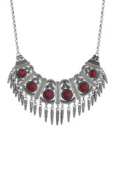 Lucky Brand Red Jade Collar Necklace