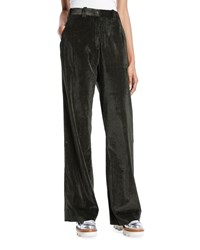Moncler Easy High Waist Corduroy Pants Olive
