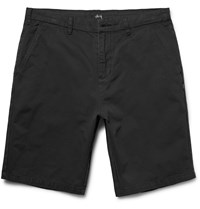Stussy Gramps Washed Cotton Twill Shorts Black