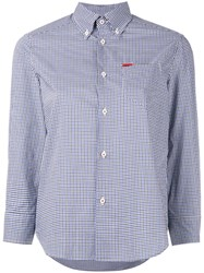 Dsquared2 Micro Checked Shirt Women Cotton 42 Blue