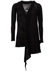 Lost And Found Draped Asymmetric Cardigan Black