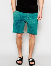 New Look Acid Wash Jersey Short Blue