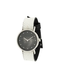 South Lane Avant Surface Watch Stainless Steel Calf Leather White