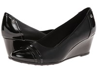 Lifestride Juliana Black Dura Glory Women's Wedge Shoes