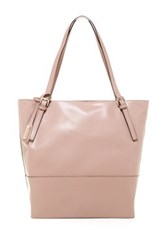 Abro North To South Saffiano Tote Pink