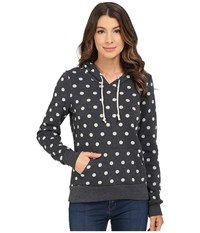 Alternative Apparel Athletics Printed Hoodie White Polka Dot Women's Sweatshirt Multi