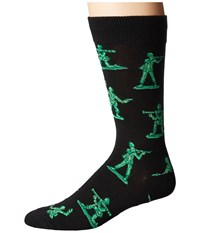Socksmith Army Men Black Men's Crew Cut Socks Shoes