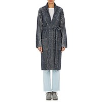 The Elder Statesman Women's Belted Long Cardigan White