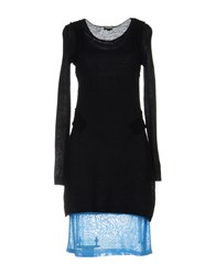Dirk Bikkembergs Sport Couture Short Dresses Black