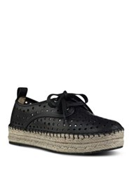Nine West Garza Perforated Double Espadrille Platform Sneakers White