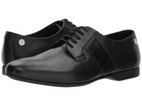 Versace Plain Toe Oxford W Greco Trim Black Men's Shoes