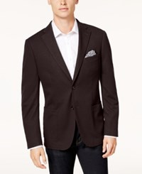 Bar Iii Men's Slim Fit Knit Sport Coat Created For Macy's Burgundy