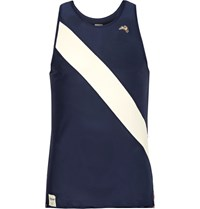 Tracksmith Van Cortlandt Striped Mesh Tank Top Navy
