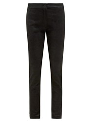 Ann Demeulemeester Stretch Jersey Backed Leather Leggings Black
