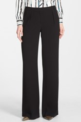 Halogen Pleat Front Wide Leg Pants Black