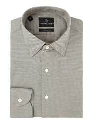 Chester Barrie Men's Contemporary Soft Puppytooth Shirt Grey