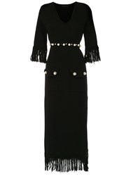 Andrea Bogosian Long Knitted Dress Black