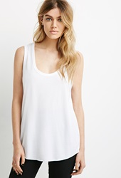Forever 21 Scoop Neck Muscle Tee White