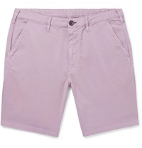 Paul Smith Ps Slim Fit Cotton Blend Twill Shorts Purple