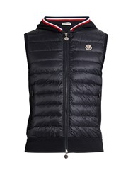 Moncler Cotton And Nylon Down Gilet Navy