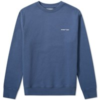 Off White Logo Slim Crew Sweat Blue