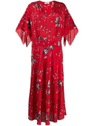 Zadig And Voltaire Rap Daisy Print Maxi Dress Red