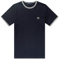 Fred Perry Authentic Twin Tipped Tee Blue