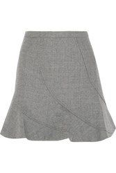 J.Crew Flared Wool Mini Skirt Light Gray