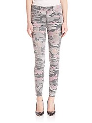 True Religion Halle Distressed Camo Skinny Jeans