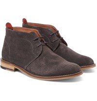 Oliver Spencer Baxter Suede Chukka Boots Gray