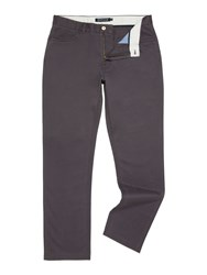 Howick Men's Smith 5 Pocket Twill Trouser Grey