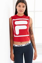 Fila Uo Fiesta Logo Cropped Muscle Tee Red
