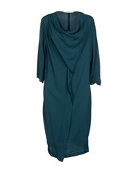 Jucca Knee Length Dresses Emerald Green