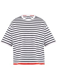 Tomorrowland Striped Cotton Jersey T Shirt White Stripe