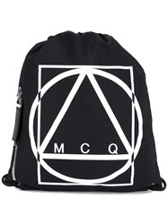 Mcq By Alexander Mcqueen Drawstring Backpack Black