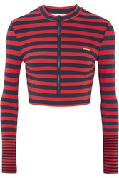 Stella Mccartney Striped Rash Guard Red